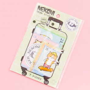 Nekoni Travelling Dog Luggage Stickers