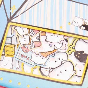Nekoni Chubby Polar Bear & Penguin Stickers