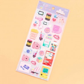 Nekoni Retro & Tech Puffy Stickers