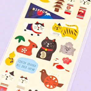 Travelling Cat In Japan Washi Stickers