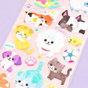 Mind Wave Cute Animals Puffy Stickers