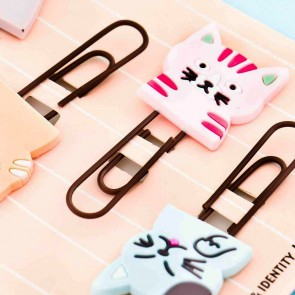 Meow Meow Neko Bookmark Clips