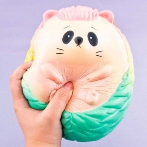 Jumbo Rainbow Hedgehog Squishy