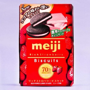 Meiji Rich Strawberry Biscuits