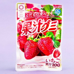 Meiji Fruit Gumi Gummy Candy - Strawberry