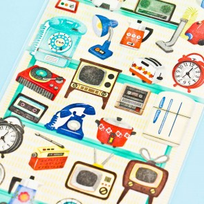 Retro Electronics & Appliances Stickers