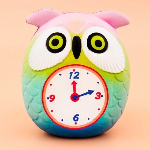 Rainbow Owl Clock Squishy