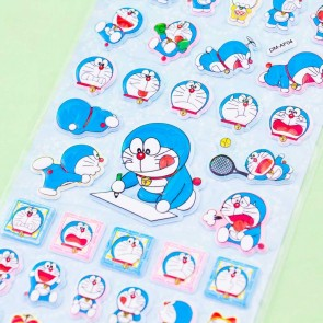 Doraemon Sports Puffy Stickers