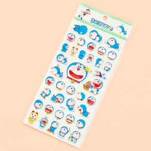 Doraemon Funny Faces Puffy Stickers