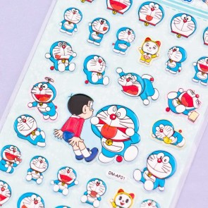 Playful Doraemon Puffy Stickers
