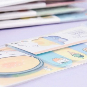 Kawaii Animals & Food Sticky Notes Set