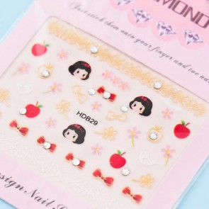 Snow White & Apples Nail Stickers