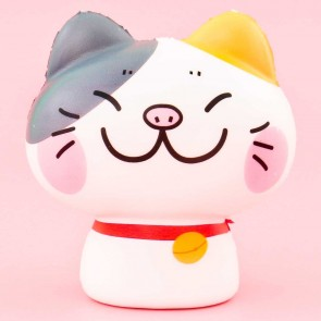 Grinning Calico Cat Squishy