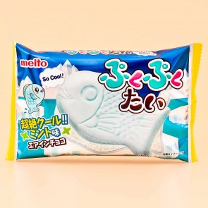 Meito Puku Puku Tai Fish Shaped Wafer - Cool Mint
