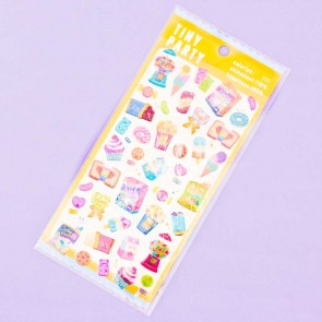 Tiny Party Glittery Snacks Puffy Stickers