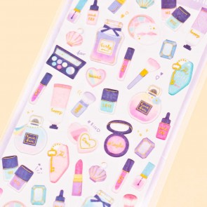 Tiny Party Glittery Cosmetics Puffy Stickers