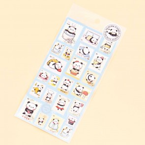 Nekoni Cute Panda Stamp Stickers