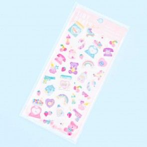 Tiny Party Glittery Pinky World Puffy Stickers