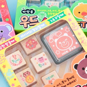 Korean Kawaii Animal Stamp Set