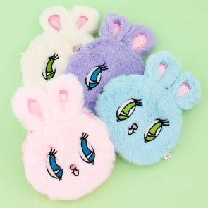 Fluffy Rabbit Plushie Charm & Coin Purse