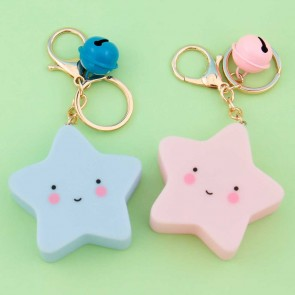 Happy Light Up Star Key Chain