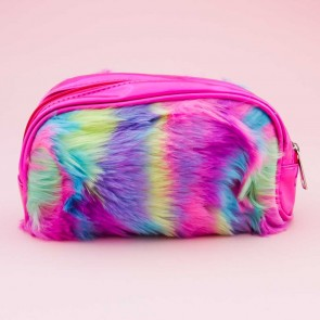 Fluffy Rainbow Monster Purse
