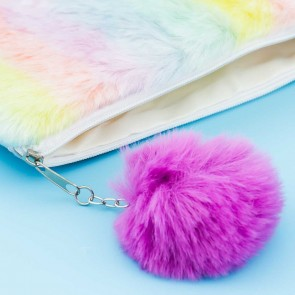Fluffy Rainbow Pastel Purse