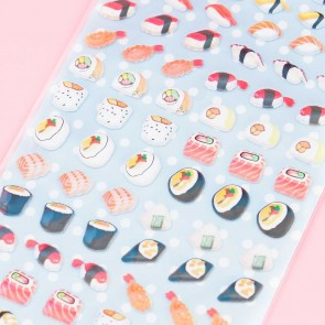 Nekoni Mini Sushi Puffy Stickers