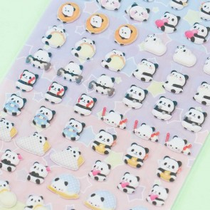 Nekoni Mini Panda Puffy Stickers