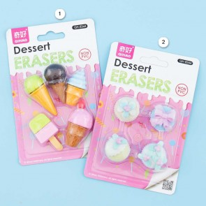 Ice Cream & Cupcakes Eraser Set