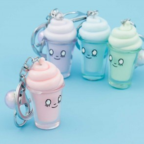 Pastel Ice Cream In A Glass Keychain