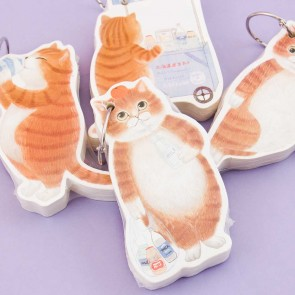 Kitty & Milk Keyring Memo Pad