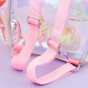 Holographic Mermaid Tail Transparent Backpack