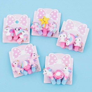 Pastel Unicorn Hair Clip Set