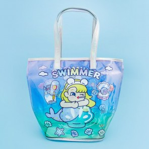 Kawaii Mermaid Transparent Tote Bag