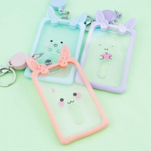 Kawaii Pastel Bunny Card Holder