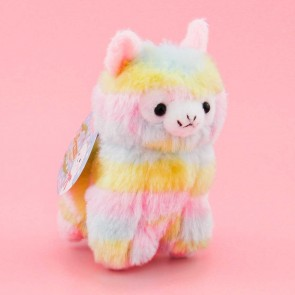 Alpacasso Rainbow Alpaca Plushie Charm - Medium