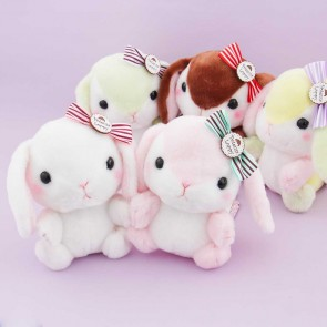 Pote Usa Loppy Plushie With A Bow - Medium