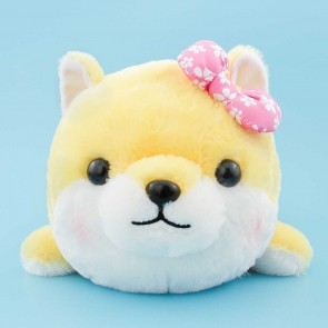 Mameshiba Sankyodai Plushie With A Flower Bow - Sakura / Big