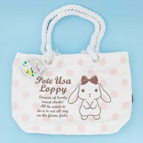 Pote Usa Loppy Rope Handle Tote Bag - Polka Dots