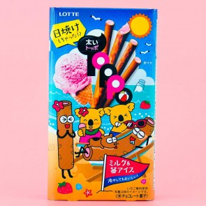 Thick Toppo Milk & Strawberry Ice Cream Chocolate Sticks