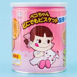 Fujiya Peko Chan Biscuits In Tin Can