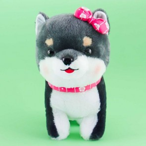 Mameshiba Sankyodai Plushie With A Sakura Bow - Mamejiro / Medium