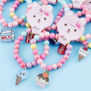 Pastel Bracelet With Food Charm