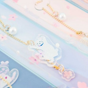 Neko & Sakura Chain Bookmark