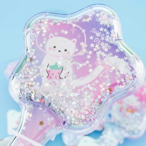 Neko Glittery Star Hair Brush