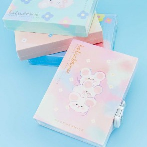 Halialmouse Diary Notebook With Lock - Small