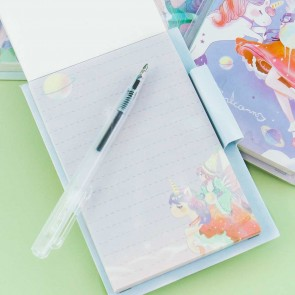 Heroine & Unicorn Notepad With Pen