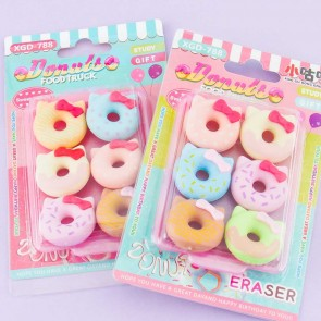 Kitty Donut Eraser Set