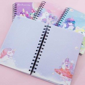 Pretty Girl & Unicorn Spiral Notebook